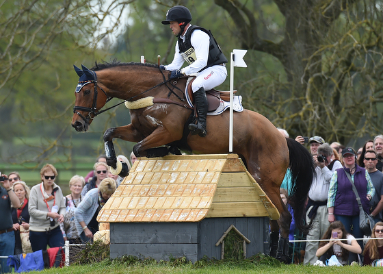 Michael Jung riding La Biosthetique - Sam FBW GER during the Cross Country phase of The Mitsubishi Motors Badminton Horse Trials at Badminton in Gloucestershire, UK on 7th May 2016