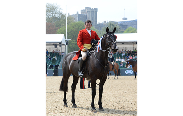 Rory  ?? riding Vulcanite, Champion Working Hunter during Thursday of the Royal Windsor Horse Show, in the grounds of Windsor Castle in Windsor in the county of Berkshire, UK  on 12th May 2016
