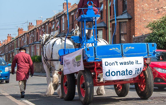 The horses and dray are being used to help clear student accommodation
