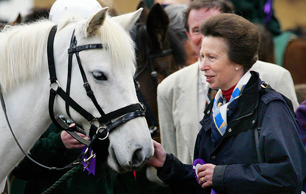 Princess Anne during a visit to Ambury Park in Auckland, to attend a session of riding for the disabled
