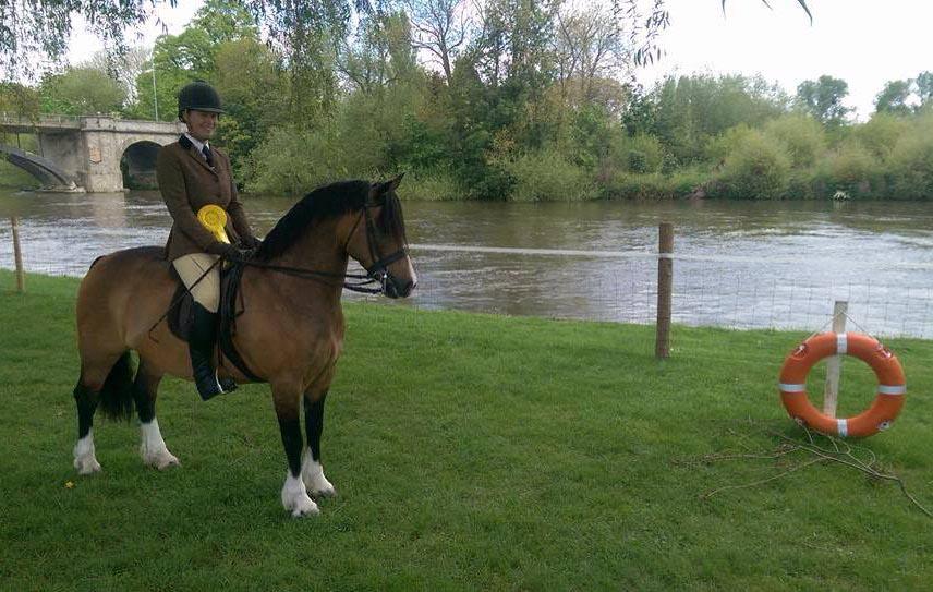 Chloe Chubb riding Bam at Royal Windsor