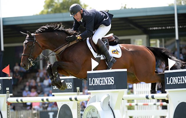 Tim STOCKDALE GBR riding FLEUR DE L'AUBE, during the Furusiyya FEI Nations Cup during the Royal International Horse Show at The All England Jumping Course, Hickstead, West Sussex, UK  on 29 July 2016