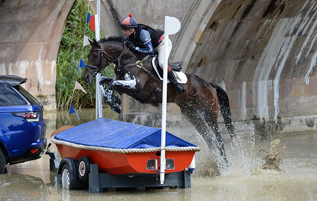 Ben Way riding GALLEY LIGHT, during the Cross Country of The Land Rover Burghley Horse Trials near Stamford in Lincolnshire, UK, on 5th September 2015
