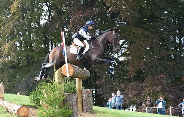 Imogen Gloag riding BRENDONHILL DOUBLET, during the Cross country phase of The Blenheim Palace International Horse Trials near Woodstock in Oxfordshire, UK, on 19th September 2015