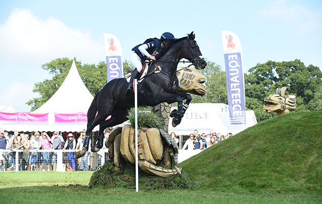 Elisa Wallace riding SIMPLY PRICELESS, during the Cross country phase of The Blenheim Palace International Horse Trials near Woodstock in Oxfordshire, UK, on 19th September 2015
