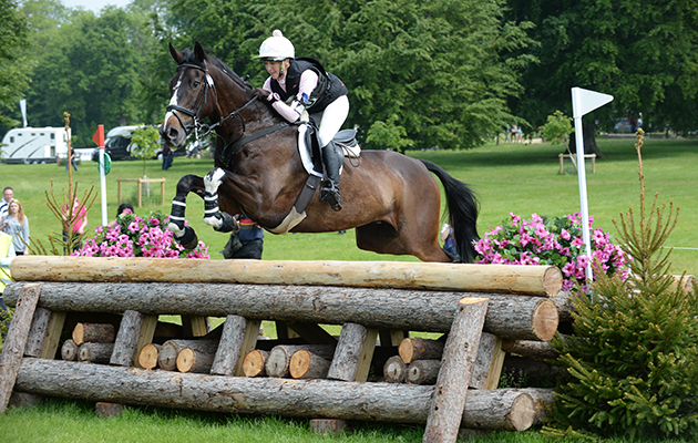 BECKY WOOLVEN riding CHARLTON DOWN RIVERDANCE during Cross Country phase of the CIC*** during the Bramham International Horse Trial in Bramham Park, Wetherby, West Yorkshire, UK on 13th June 2015