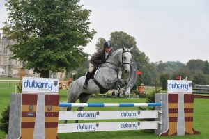 Sam Jimmison riding  Ebolensky winner of the Dubarry Burghley Young Event Horse 5 year Old Final during The Land Rover Burghley Horse Trials, near Stamford, Lincolnshire, UK  This handout image is provided by Burghley Horse Trials (Photo by Trevor Meeks /  Burghley Horse Trials)