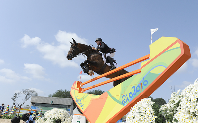 Nick Skelton GBR riding Big Star in the Individual Final of the Show Jumping Competition at the Olympic Equestrian Centre in Deodoro near Rio, Brazil on 19th August 2016