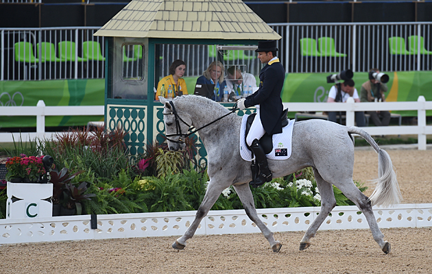 Australian rider Shane Rose on CP Qualified at the Rio Olympics