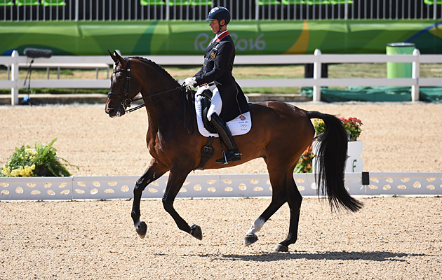 Carl Hester riding Nip Tuck at the Rio Olympics