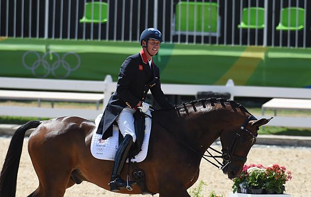 Carl Hester (GBR) riding Nip Tuck at the RIo Olympics