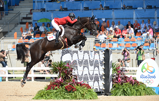 Tiffany Foster (CAN) riding Tripple X III at the Rio Olympics
