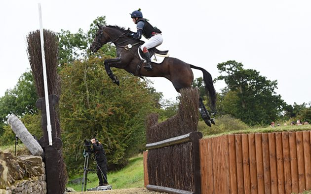 Ben Way riding GALLEY LIGHT during the cross country phase of The Land Rover Burghley Horse Trials near Stamford in Lincolnshire UK on 3rd September 2016