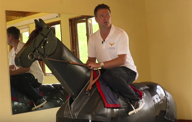 Michael Owen takes to the saddle