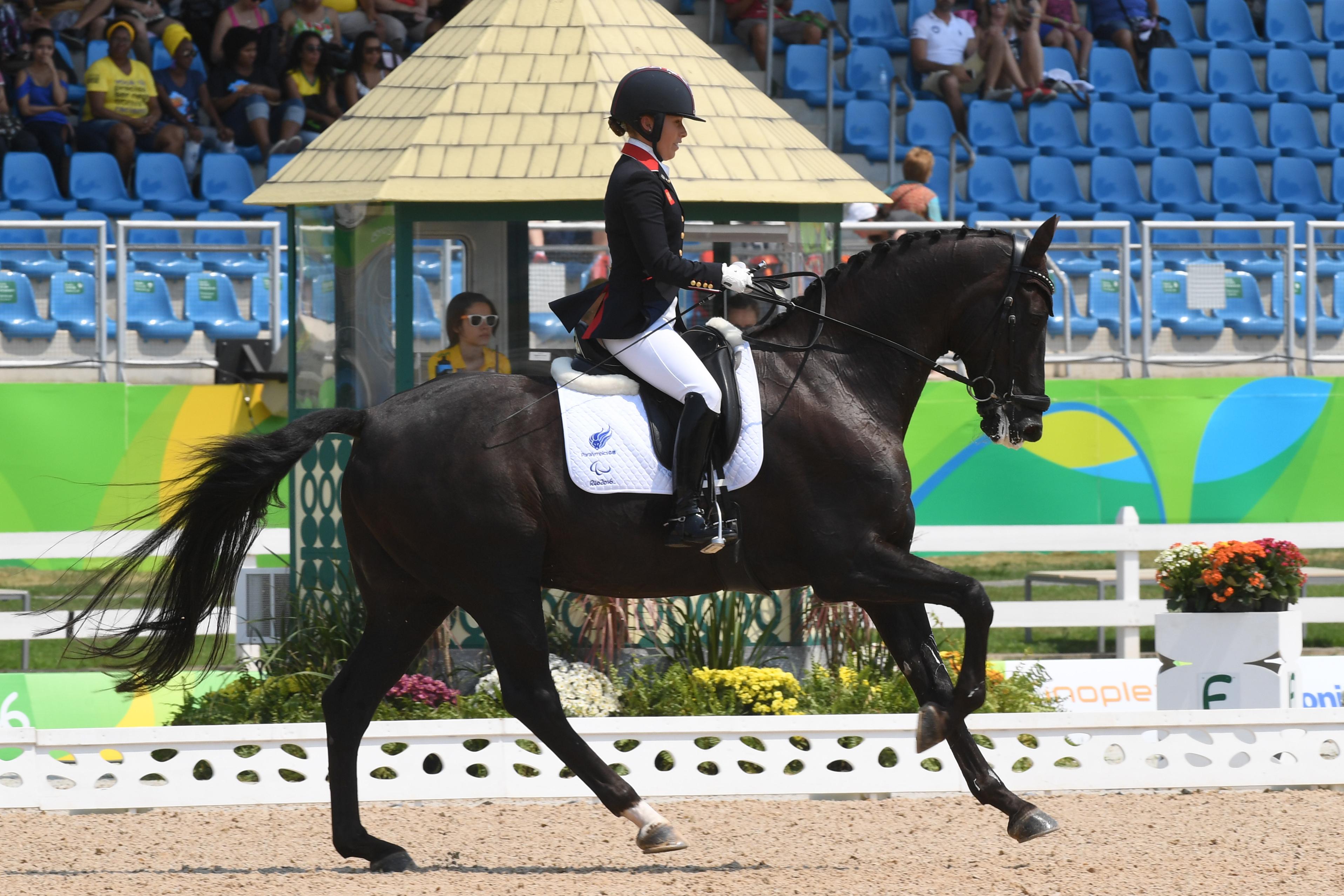 Sophie Wells rides Valerius at the Rio Paralympics