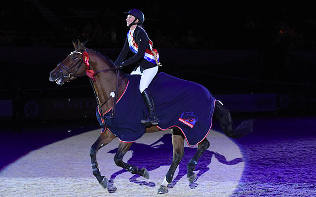 Laura Pritchard riding HORSE VICTORY