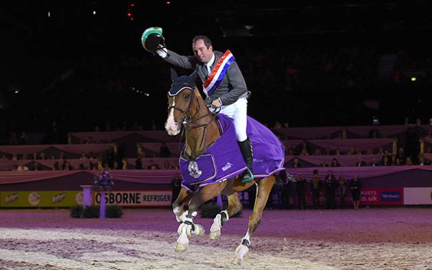 Cian O'Connor riding Super Sox, winners of Class 22 during HOYS in the NEC in Warwickshire in the UK on 9th October 2016