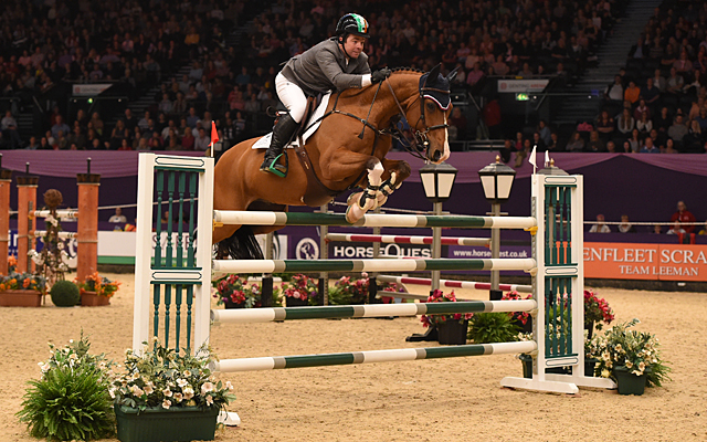 Can O'Connor riding Super Sox, winners of Class 22 during HOYS in the NEC in Warwickshire in the UK on 9th October 2016