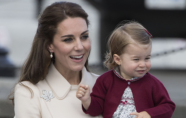 Mandatory Credit: Photo by REX/Shutterstock (6061828o) Catherine Duchess of Cambridge, Princess Charlotte The Duke and Duchess of Cambridge visit Canada - 01 Oct 2016 Victoria, Canada. Prince William, the Duke of Cambridge, the Duchess of Cambridge and their children Prince George and Princess Charlotte arrive to board a sea plane in Victoria Harbour, Canada at the end of the Royal Tour.