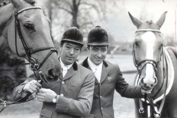 Mandatory Credit: Photo by Clive Howes/Evening Standard/REX/Shutterstock (1032373a) Showjumping Brothers Michael Whitaker (right) And John Whitaker.  Showjumping Brothers Michael Whitaker (right) And John Whitaker.