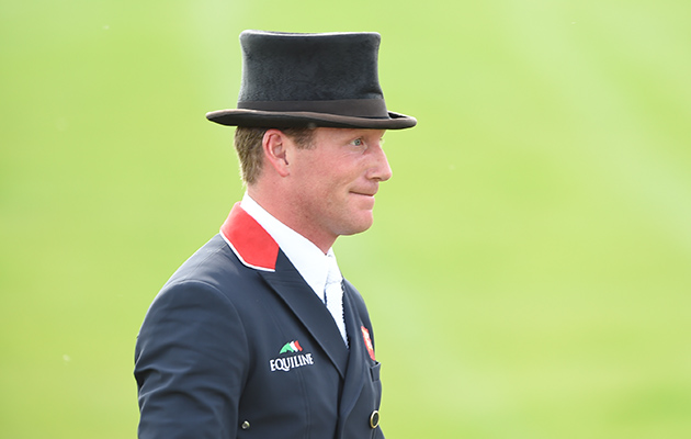 Oliver Townend riding Black Tie GBR during the Dressage phase of The Mitsubishi Motors Badminton Horse Trials at Badminton in Gloucestershire, UK on 6th May 2016