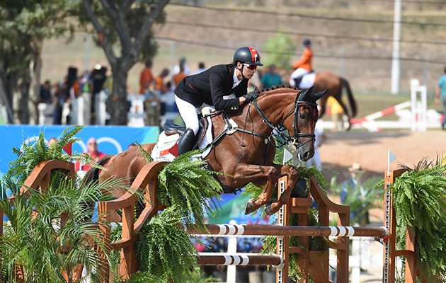 Alex Hua Tian CHN riding Don Geniro, during the Show Jumping phase of the Eventing Competition at the Olympic Equestrian Centre in Deodoro near Rio, Brazil on 9th August 2016