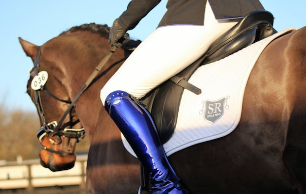 Electric Blue Dressage Boots Divide Opinion Horse Amp Hound