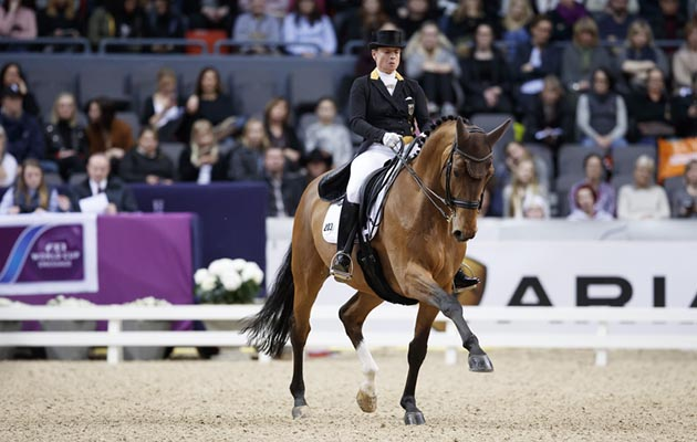 Germany's Isabell Werth and Emilio winning the eighth leg of the FEI World Cup Dressage Western European League at Gothenburg, Sweden