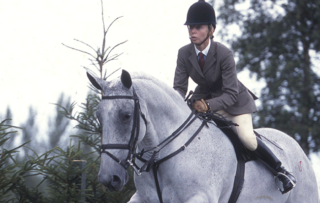Louise Bell riding Rockey IV