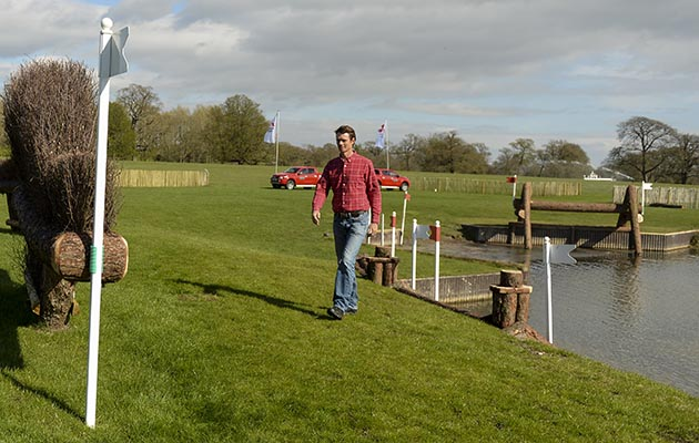William Fox-Pitt walks the Badminton 2017 cross-country course