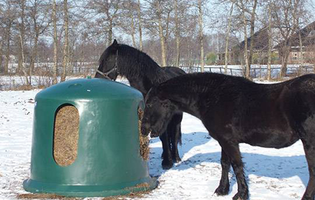 LARGE HOLE Horse Feeder Horse Pony Stable Yard Field Equine Hay Net BLACK