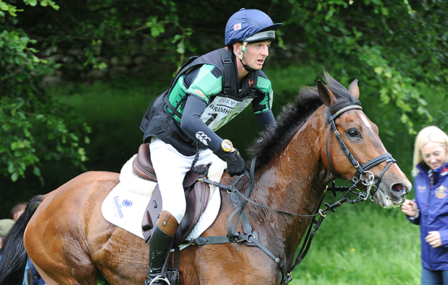 TOM JACKSON riding WALTHAM FIDDLERS FIND during Cross Country phase of the CCI*** Under 25; during the Bramham International Horse Trial in Bramham Park, Wetherby, West Yorkshire, UK on 13th June 2015