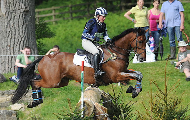 IMOGEN MURRAY riding IVAR GOODEN during Cross Country phase of the CIC*** during the Bramham International Horse Trial in Bramham Park, Wetherby, West Yorkshire, UK on 13th June 2015