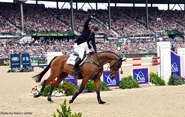 Zara Tindall is delighted with a clear round on High Kingdom to finish third at Rolex Kentucky Three Day Event 2017
