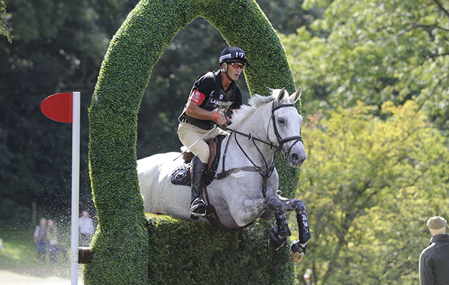 Andrew Nicholson riding AVEBURY during the cross country phase of The Land Rover Burghley Horse Trials, Stamford UK, September, 2013
