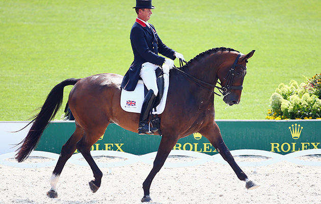 Carl and Nip Tuck during the 2015 European Championships in Aachen, where they took home the team silver medal