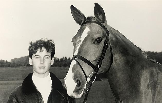 Rubelit Von Unkenriff and Carl at Addington in 1990