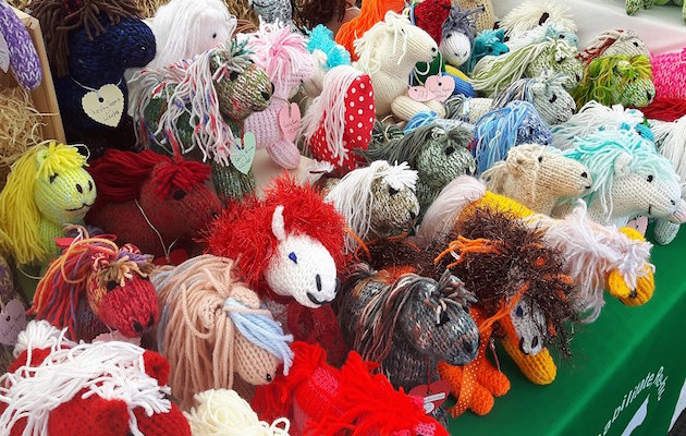 knitted ponies Bramham