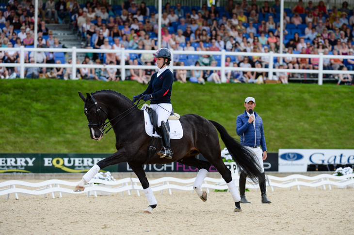 Uthopia and Chalrotte Dujardin, under the watchful eye of Carl Hester