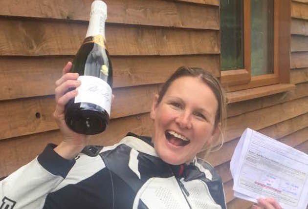 claire lomas motorbike racing licence