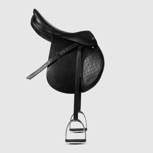 4f5e54302 Compared to Mohammed Al Maktoum's cast-offs, the saddle made by Italian  couture design house Gucci as part of their equestrian range seems a steal  at a mere ...