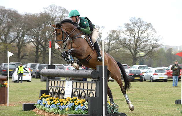 Jonty Evans (IRL) riding COOLEY RORKES DRIFT during the Belton Park One Day Event in Belton Park near Grantham in Lincolnshire UK on 19th April 2015
