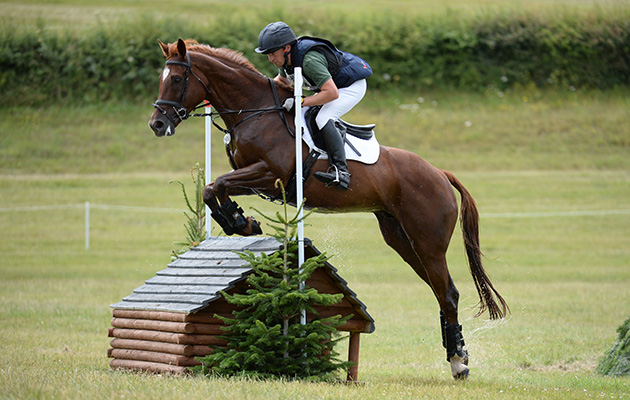 Simon Grieve riding MR FAHRENHEIT III in the CIC ** Section D during Banbury International at Barbury Castle Estate in the village of Rockly, near Marlborough in the county of Wiltshire in the UK on 8th July 2017