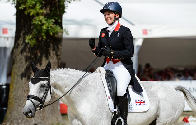 Gemma Tattersall shows her delight after a stellar test at the European Eventing Championships 2017. Picture by Peter Nixon European Eventing Championships Gemma Tattersall Quicklook V