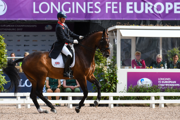 Carl Hester riding Nip Tuck at the European Dressage Championships