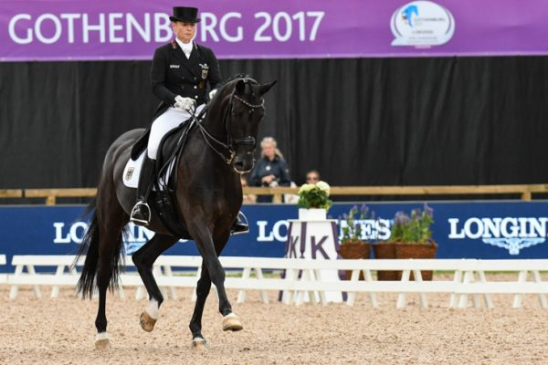 Isabell Werth riding Weihegold OLD at the European Dressage Championships