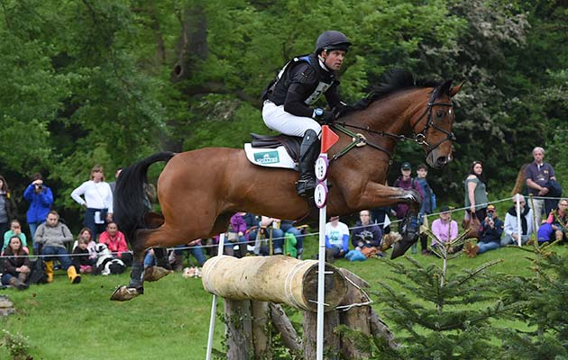 Jamie Atkinson riding CELTIC FORTUNE in the CIC *** ERM during the Equi-Trek Bramham International Horse Trials held in Bramham Park near Wetherby in West Yorkshire in UK on 11th June 2016