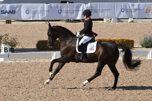 Sophie Wells riding C Fatal Attraction at the European Para Dressage Championships