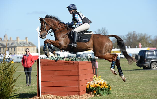 Libby Seed riding WHAT A CATCH II during the Belton Park One Day Event in Belton Park near Grantham in Lincolnshire UK on 18th April 2015