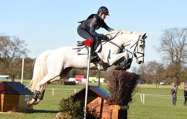 Vittoria Panizzon (ITA) riding BOROUGH PENNYZ in OI Section K, during the cross country phase of the Belton Park International Horse Trials held in Belton Park, near Grantham in Lincolnshire UK on the 2 April 2017